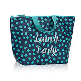 Thermal Tote in Navy Lotsa Dots - 3000