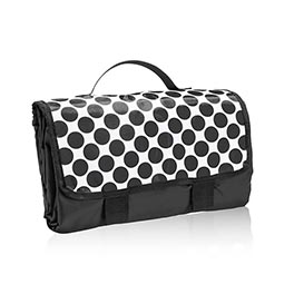 About Town® Blanket in Black Spotty Dot - 3244