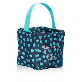 Littles Carry-All Caddy in Navy Lotsa Dots - 3401