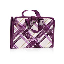 Timeless Beauty Bag in Plum Plaid - 3849