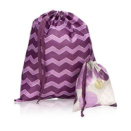 Timeless Memory Pouches in Plum Chevron - 3885
