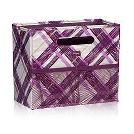 Fold N File in Plum Plaid - 3890