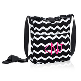 Retro Metro® Crossbody in Black Chevron - 3972