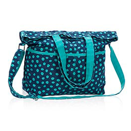 Retro Metro® Fold-Over in Navy Lotsa Dots - 4236