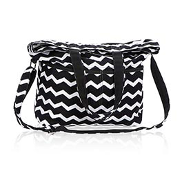 Retro Metro® Fold-Over in Black Chevron - 4236