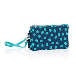Vary You™ Wristlet in Navy Lotsa Dots - 4241