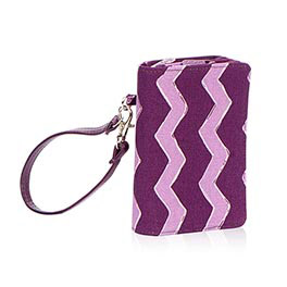 Every-Day Wristlet in Plum Chevron - 4295