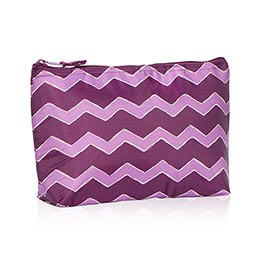 Medium Thermal Zipper Pouch in Plum Chevron - 4363