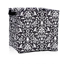 Square Storage Bin in Black Parisian Pop - 4437