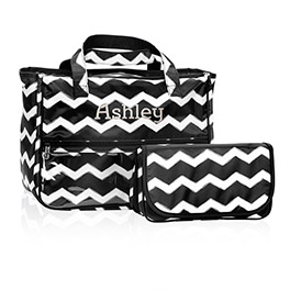 True Beauty Bag in Black Chevron - 4484