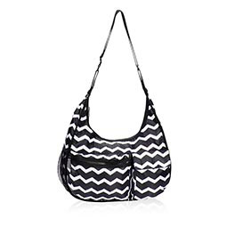 Explorista Crossbody in Black Chevron - 4495