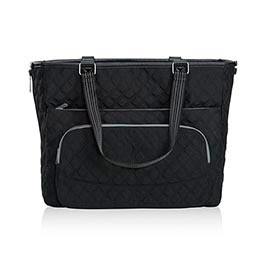 Double Take Tote in Black Quilted Diamond - 4523