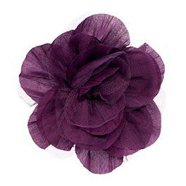 Floral Clip in Plum - 4539