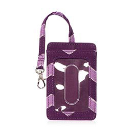 Badge Buddy in Plum Chevron - 4563