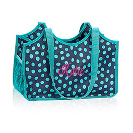 Keep-It Tote in Navy Lotsa Dots - 4568