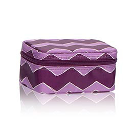 Baubles & Bracelets Case in Plum Chevron - 4585