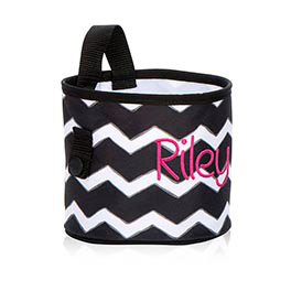 Oh-Snap Bin in Black Chevron - 4598