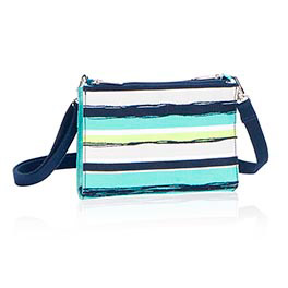 Cross Town Wallet in Sea Stripe - 4711