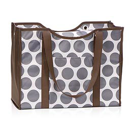 All-Day Organizing Tote in Grey Mod Dot - 4777