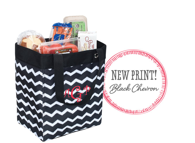 Essential Storage Tote in Black Chevron - New print! Black Chevron