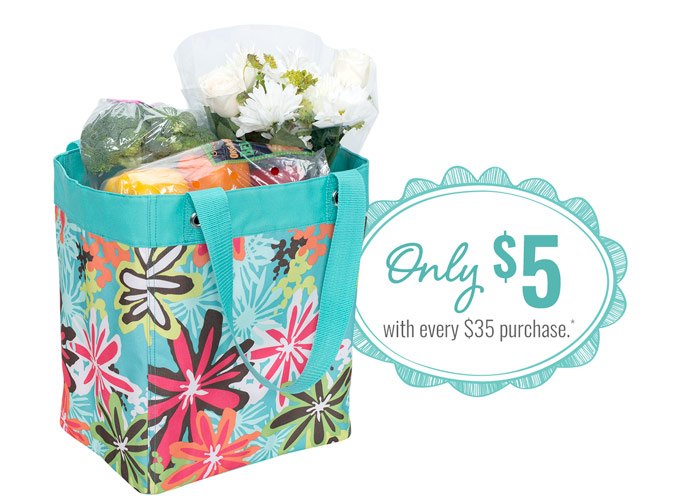 Essential Storage Tote in Daisy Craze - Only $5 with every purchase.*