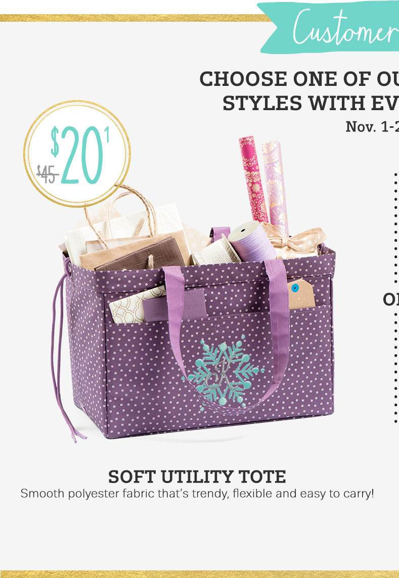 Soft Utility Tote in Plum Dancing Dot