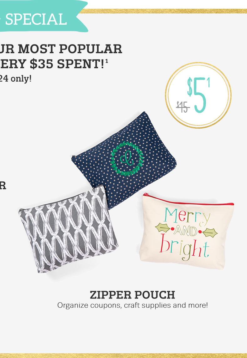 Zipper Pouch - Organize coupons, craft supplies and more!