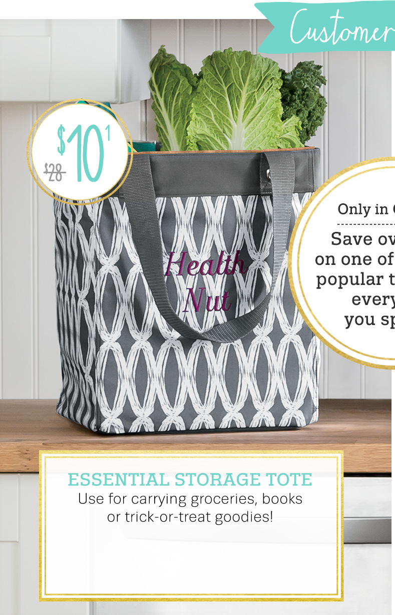Essential Storage Tote in Charcoal Links